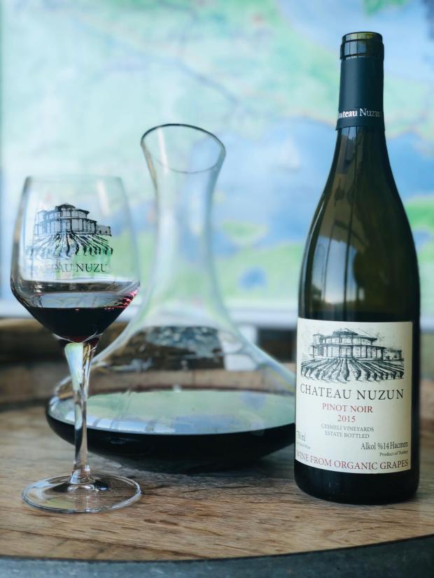 Chateau nuzun pinot noir red wine kırmızı şarap