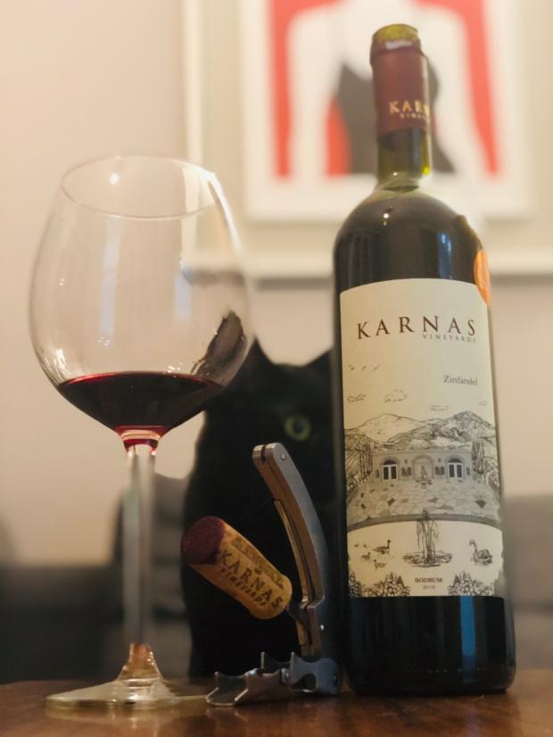 Karnas Zinfandel 2016 Bodrum Wine Turkey Şarap vin vino vinho wein cat meyzen
